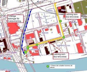 karta över inre hamnen