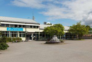 Exteriörbild av Slottshagens reningsverk