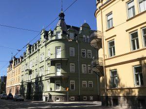 Flerfamiljshus på Nygatan i Norrköping