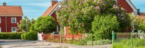 foto av en villa i sommarskrud