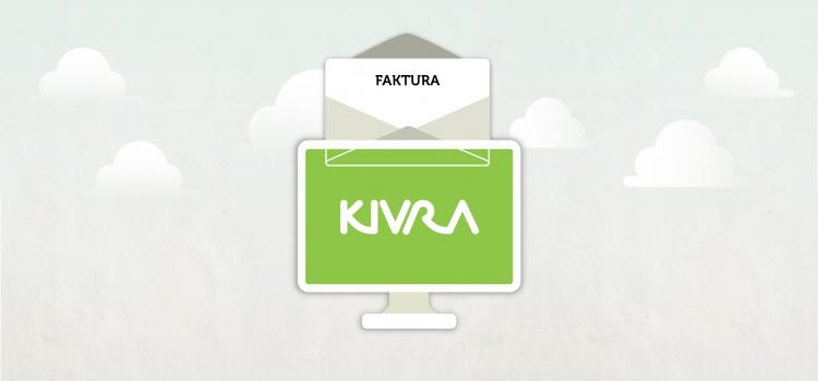 Kivras logga samt ett brev med texten faktura