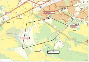 Karta över VA-arbete i Herrebro