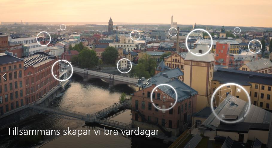 Vy över Norrköpings innerstad