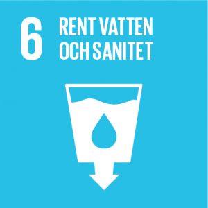 Symbol för mål 6 för rent vatten och sanitet