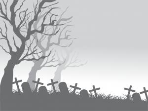 illustration av kyrkogård